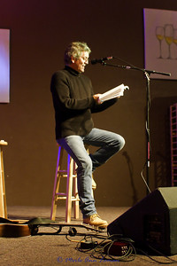 Rodney Crowell reading from Chinaberry Sidewalks. Performing at   Missoula Winery and Event Center Dec. 10, 2010.