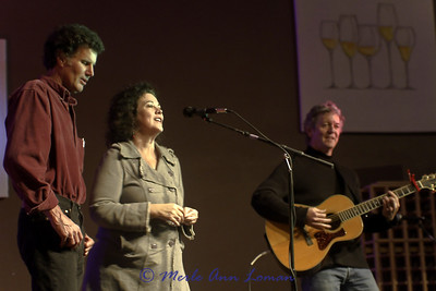 Montana music artist  Ben Bullington with Joanne Gardner and  Rodney Crowell on the right. Performing at   Missoula Winery and Event Center Dec. 10, 2010.