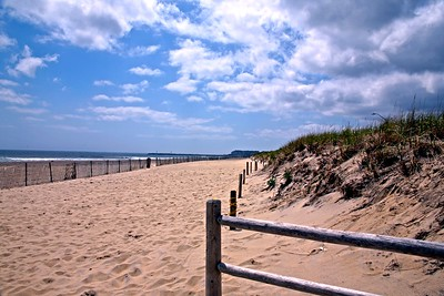 Fall Day on Manasquan Beach At the Jersey Shore