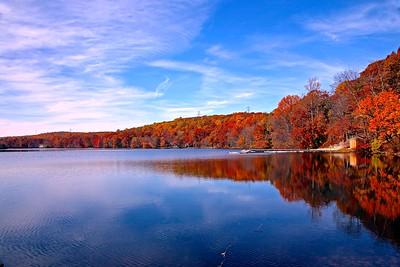 Autumn Day At Shongum Lake