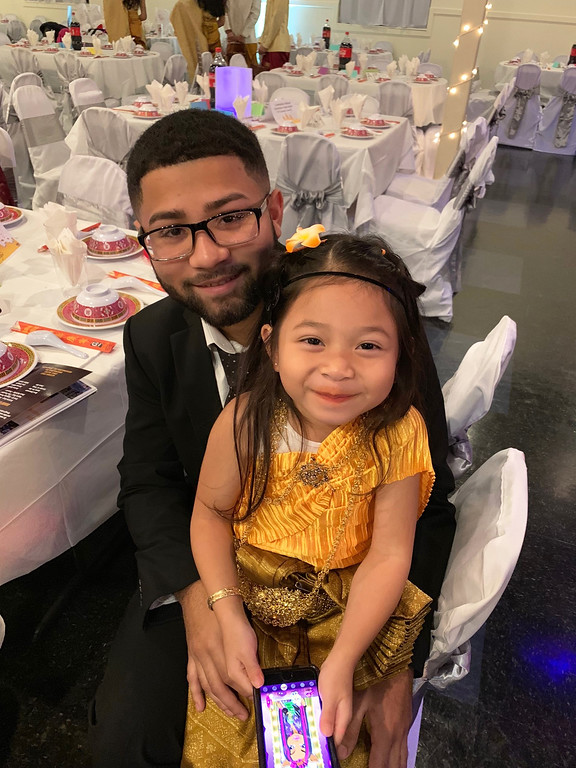 . Yandel Carrillo with the adorable Juilette Phan of Lowell