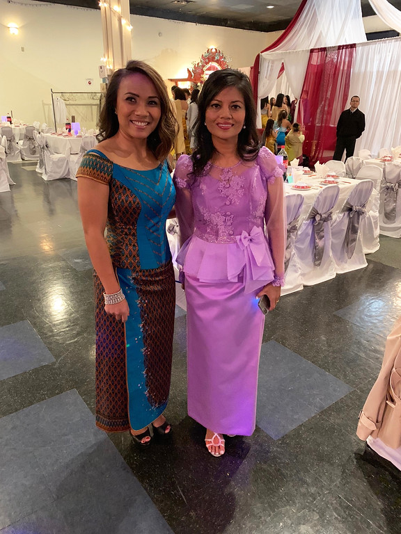 . Khun and honoree Vanna Howard, both of Lowell, in beautiful and traditional Khmer gowns