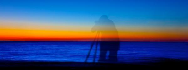 Photographer at Sunset Menemsha Martha's Vineyard, 100921_2249