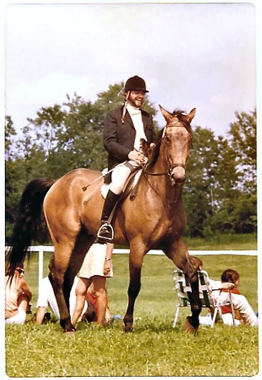 Cow and Tony Flying Horse Farm 1974