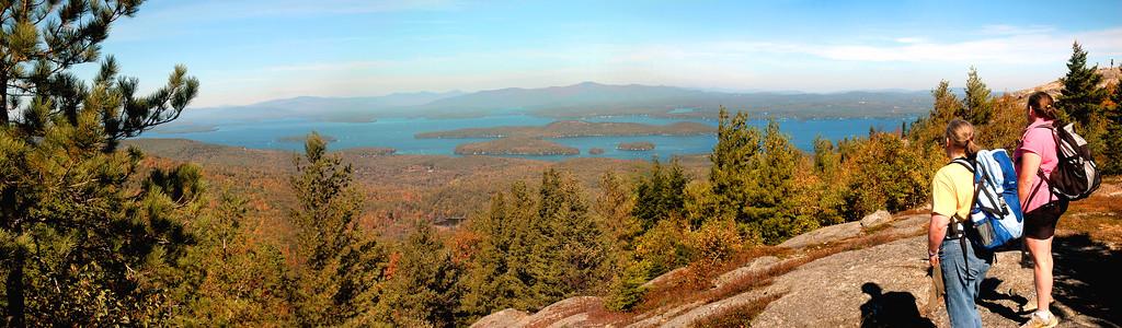 Descending Mount Major Northwest Panorama