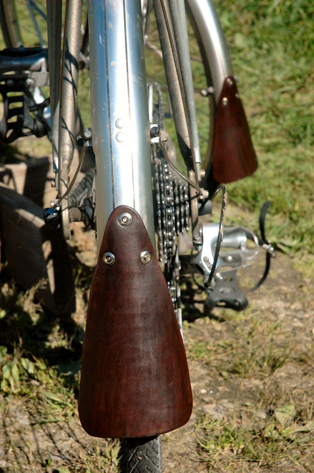 I designed and fashioned them myself, because I didn't much like the shape of the Brooks mudflaps.