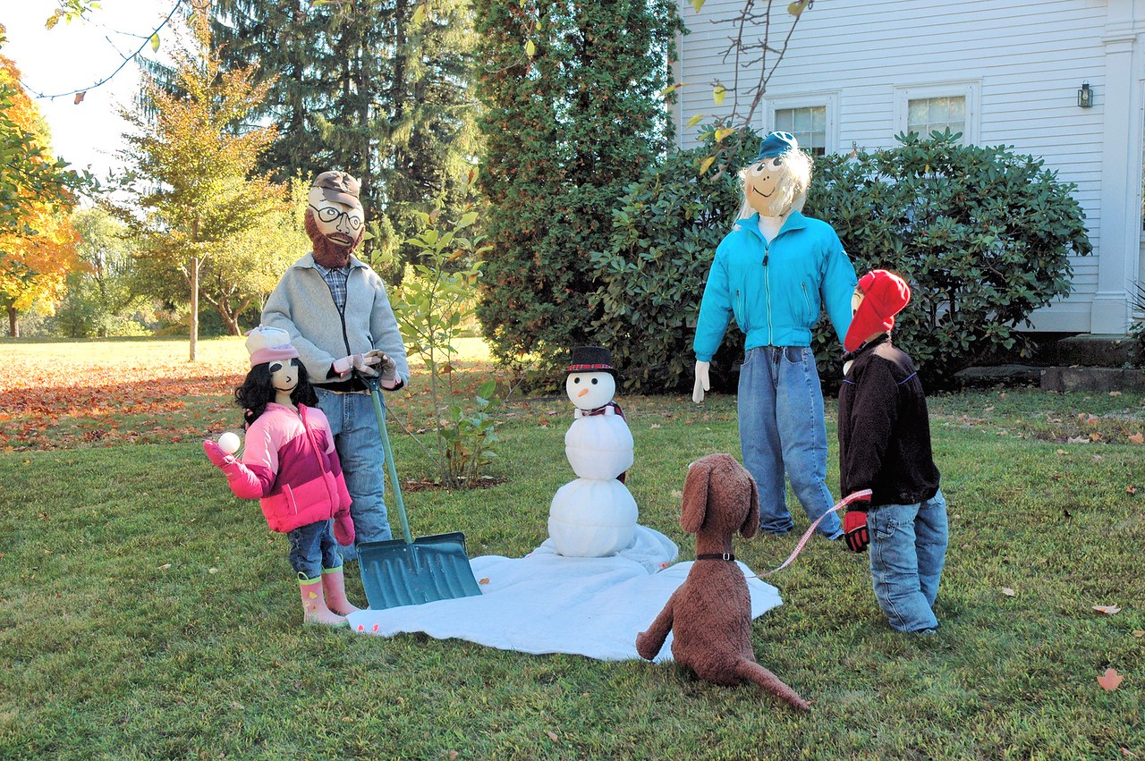 The Whole Family Prepares for Winter