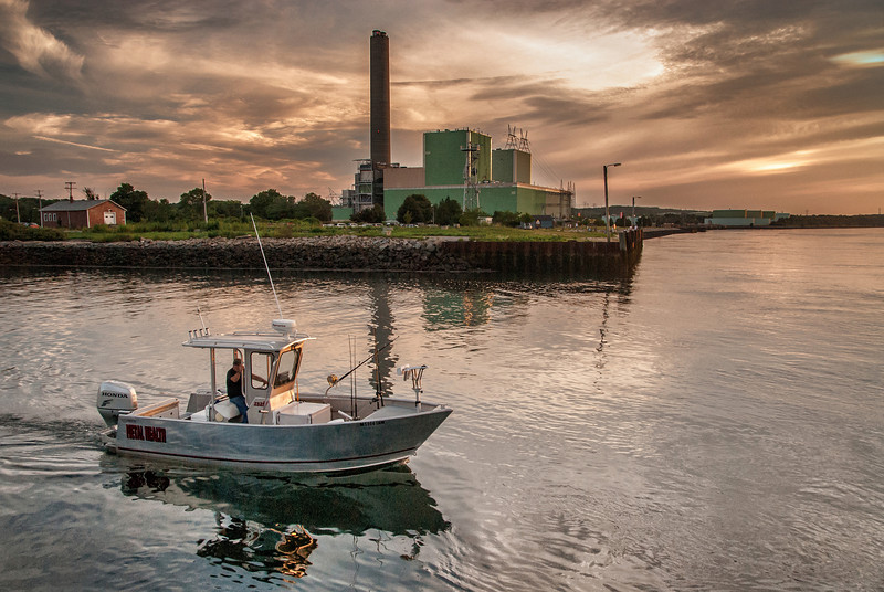 Cape Cod Canal--<br /> Even the Power Station can't deny the beauty of the Cape