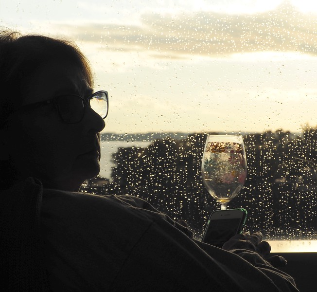 Sometime It Rains-BUT  There is Aways Wine