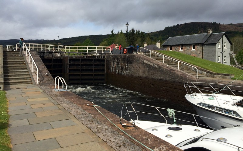 Fort Augustus river locks