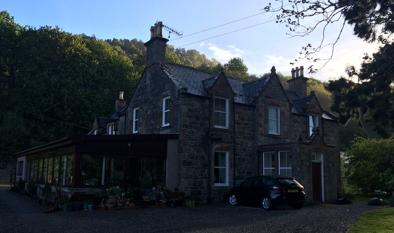 Our lovely overnight stop at Drumnadrochit