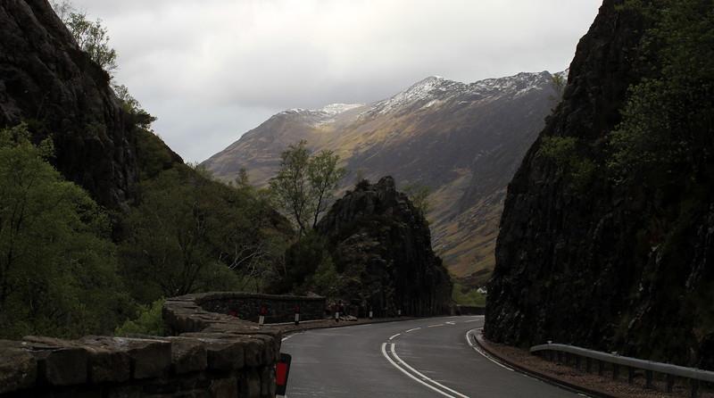 Road snaking between rocks...