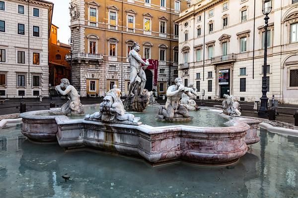2018, Rome, Piazza Navona, Fountain of Neptune
