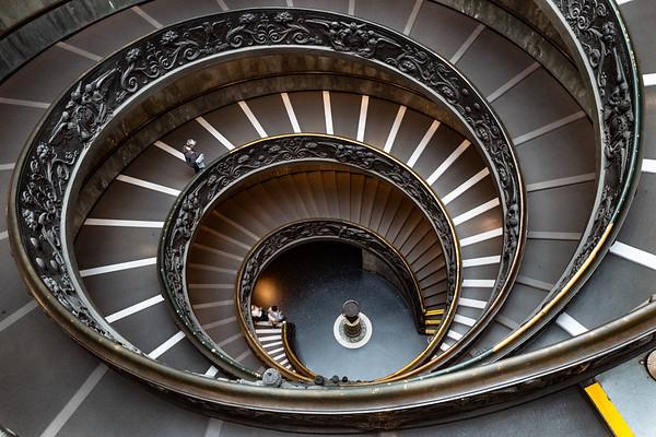 2018, Rome, Vatican Museum, Bramante Staircase