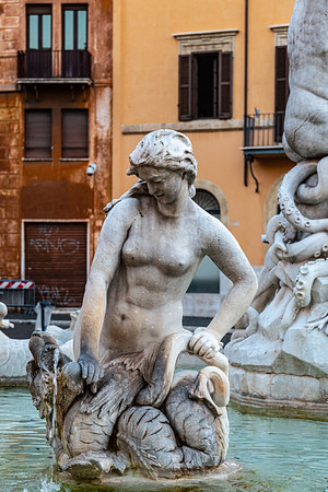2018, Rome, Piazza Navona, Fountain of Neptune