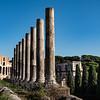 2018, Rome, Roman Forum, Via Sacra Collonade