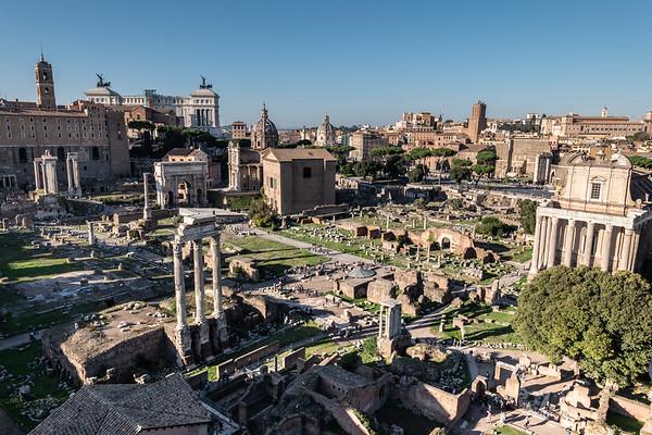 2018, Rome, Roman Forum, View from the Roman Forum