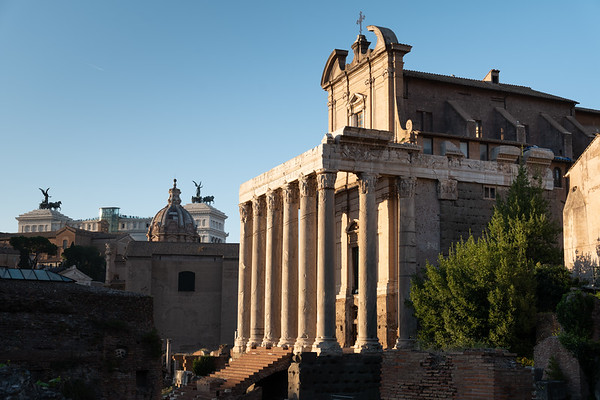 2018, Rome, Roman Forum, Temple of Antoninus and Faustina