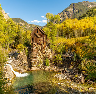 """Perhaps one of the most photographed sites in Colorado. The Old Mill was built in 1892 as a """"powerhouse""""."""