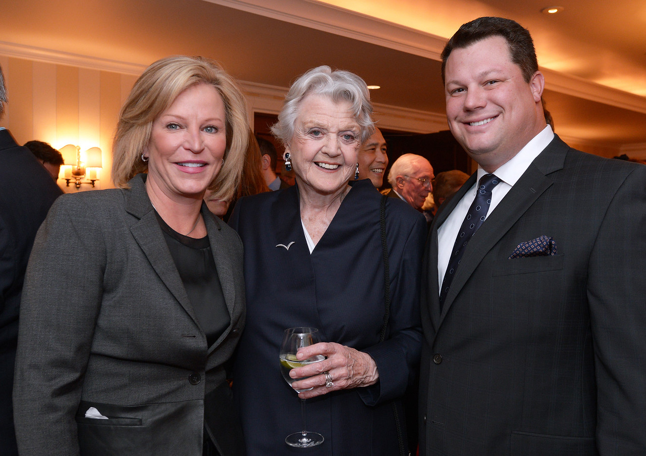 Holly McGrath Bruce, Angela Lansbury, and Councilor David Bruce.