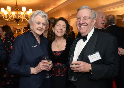 Angela Lansbury with Chairman of the Board David H. Burnham and his daughter, Amery Burnham.