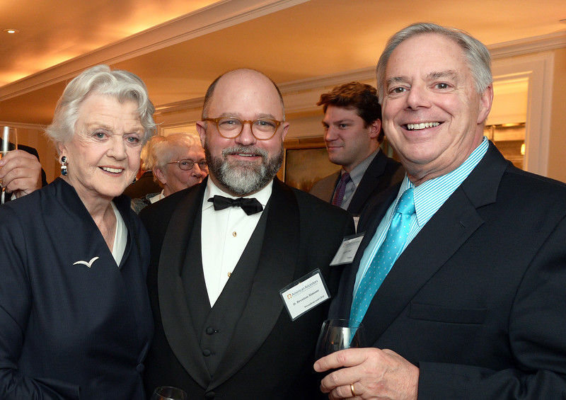 Dame Angela Lansbury, NEHGS President and CEO Brenton Simons, Trustee Dutch Treat.