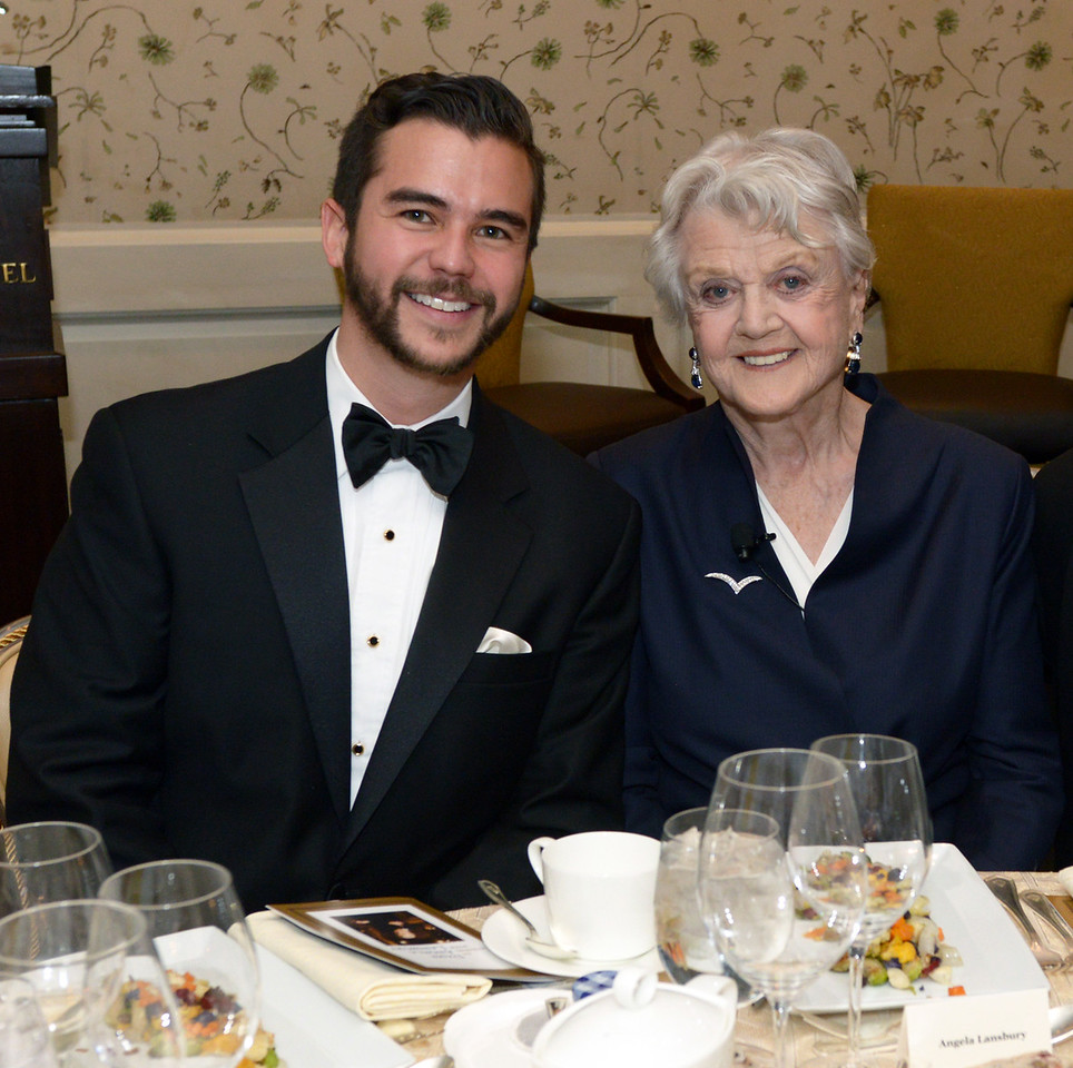 NEHGS Vice President and CEO Ryan J. Woods and Dame Angela Lansbury.