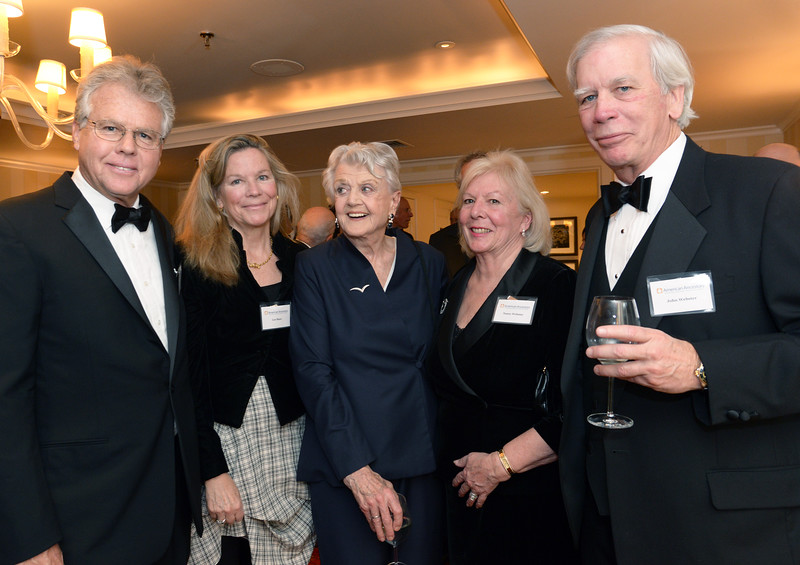 Anthony and Lee Webster Shaw with Anthony's mother, Angela Lansbury, accompanied by in-laws Trustee Nancy Clay Webster and her husband, John W. Webster.