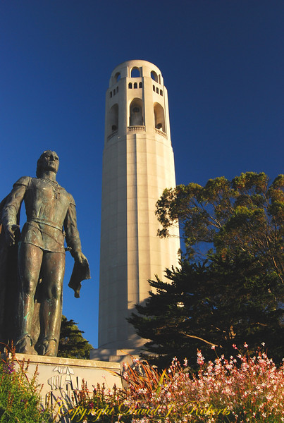 Coit Tower and Columbus, San Fransisco, California