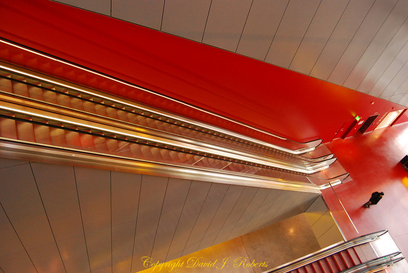 Uppsala Concert Hall escalator, Sweden