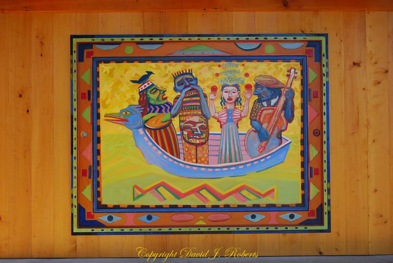 Pavillion painting, Boulevard Park, Bellingham WA