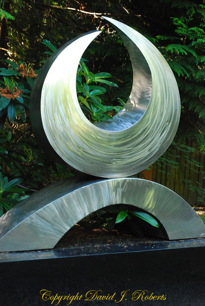 Metal Sculpture, Big Rock Garden, Bellingham