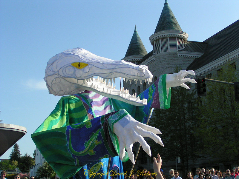 Monster in Procession of the Species Parade, Olympia, Washington