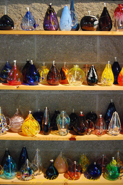 Blown Glass Lamps, Lincoln City, Oregon