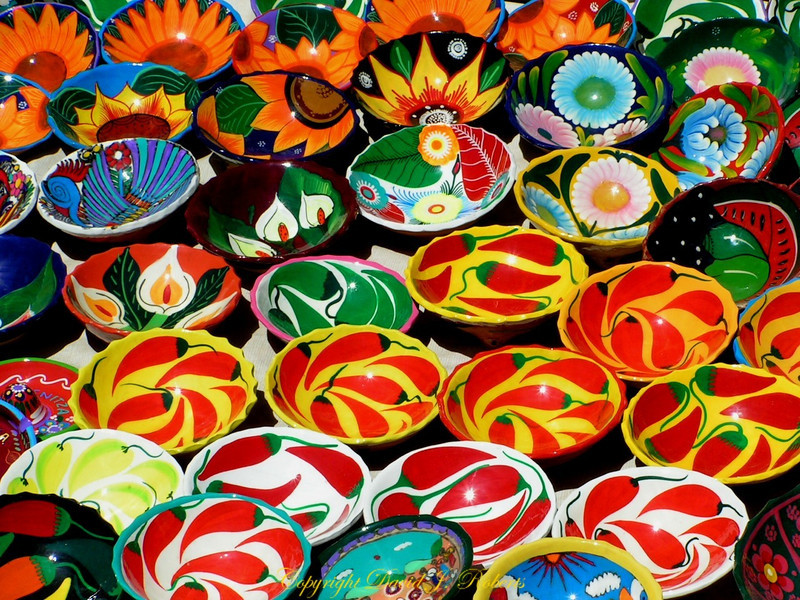 Bowls in the Market at Chichen Itza, Mexico