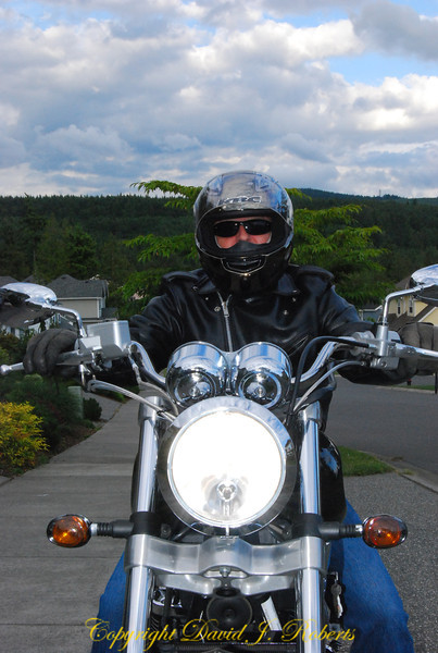 My brother Charlie on his motorcycle