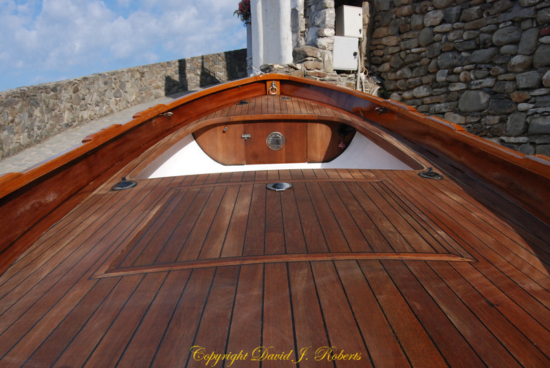 A gorgeous fisherman's boat, newly finished, Manarola, Cinque Terre, Italy