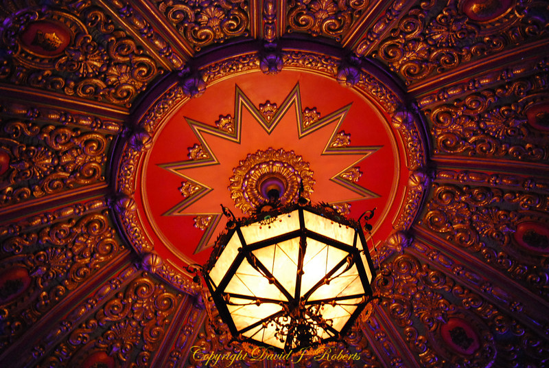 Chandelier and ceiling in Mount Baker Theater, Bellingham Washington