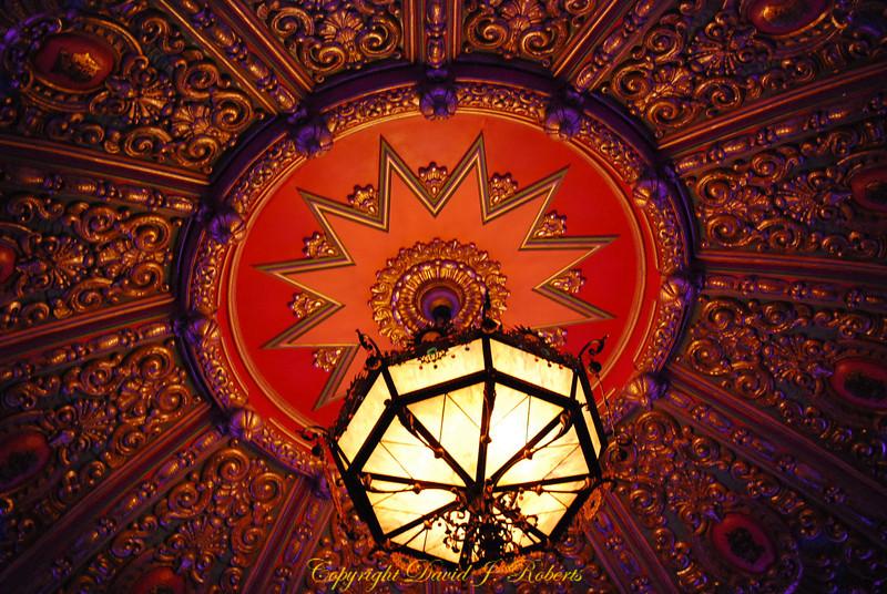 Chandelier and ceiling in Mount Baker Theater, Bellingham Washington
