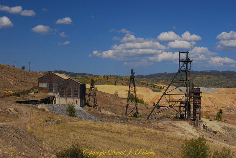 Badger State mine headframe in Butte, Montana
