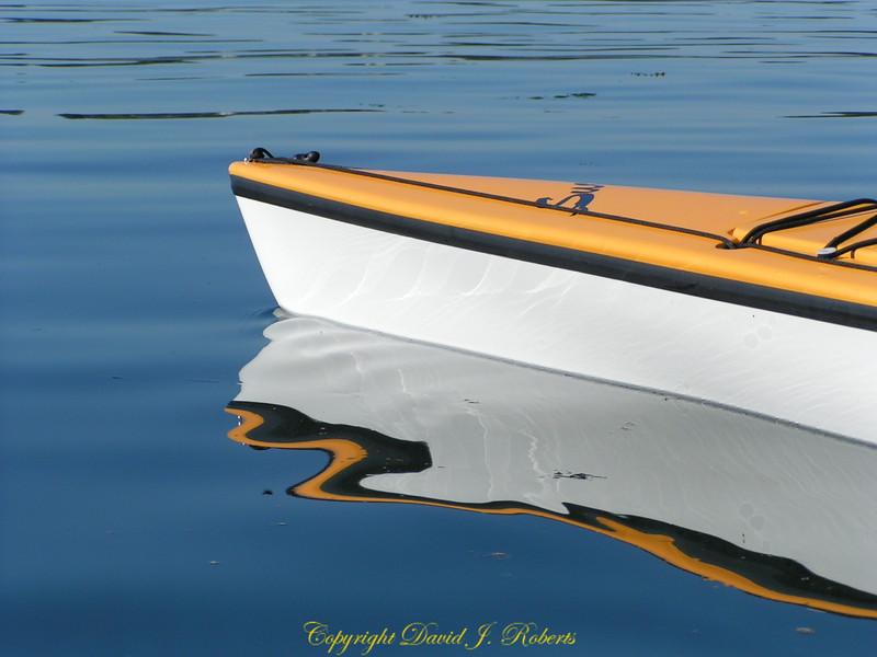 Kayak and reflection