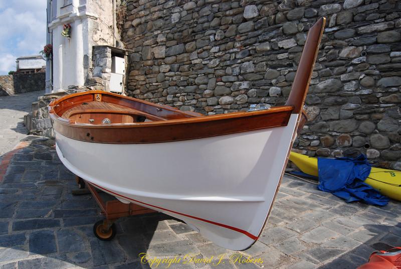 Fishing boat in Manarola, Cinque Terre, Italy