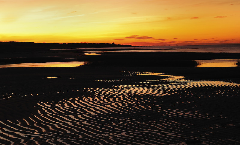 """The Glow of Sunset - Brewster Flats---""""The flats took on a mysterious quality as dusk approached and the last evening light was reflected from the scattered pools and creeks."""" <br /> RC--The Edge of the Sea"""