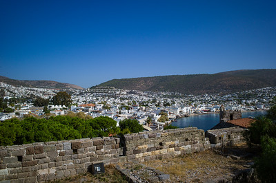 2014, Turkey, Bodrum, view of Bodrum from Bodrum Castle, a 15th century crusader fortress