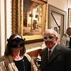 Artist Lisa Kovvuri of Durham, N.H., and WHM secretary Frank Mackiewicz, of Lowell