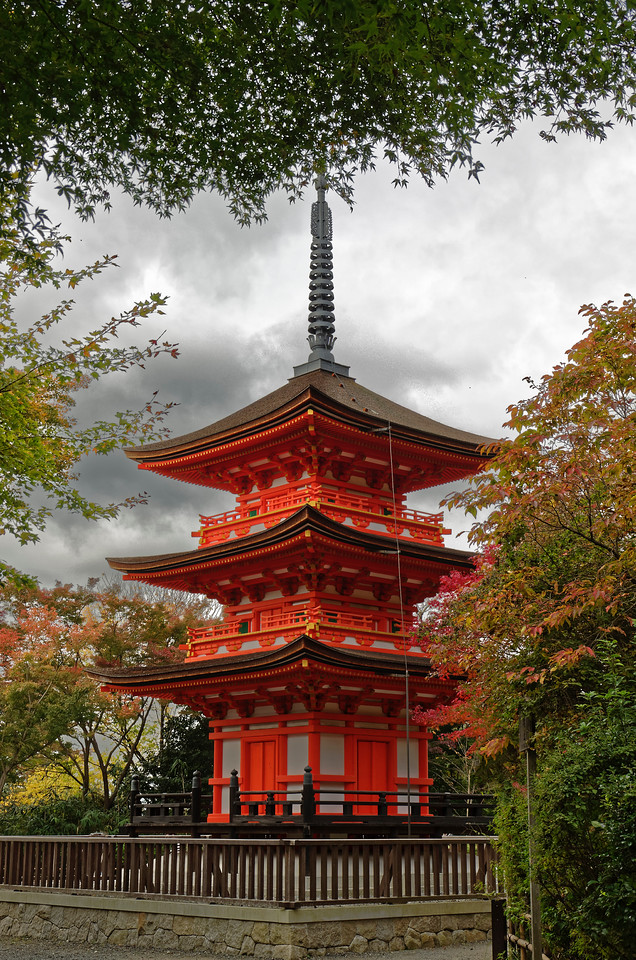 Near the top of the hillside facing the temple's main hall is its second pagoda, Koyasu-no-to.