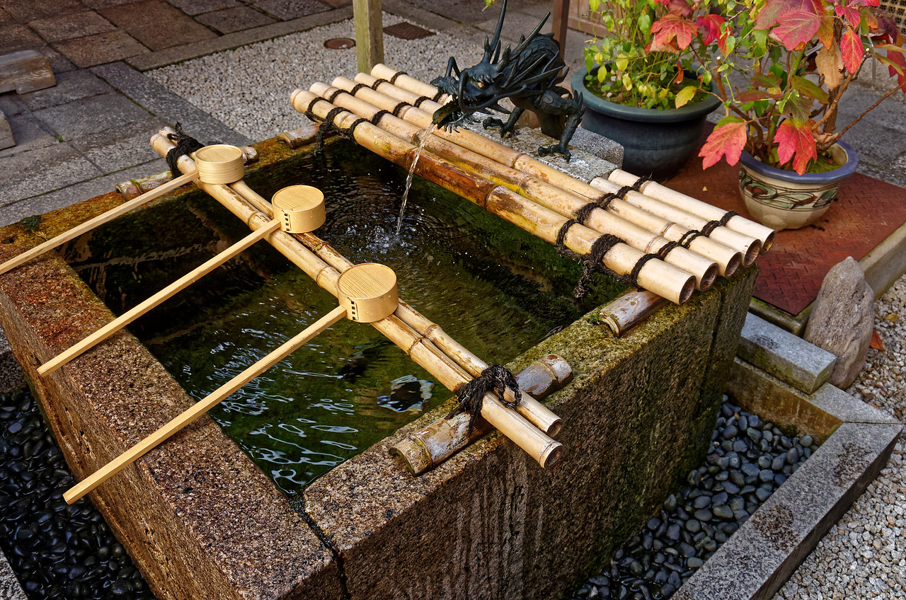 Water for self-purification within the Shinto shrine