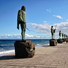 Statues of the Gaunche Kings of the Canary Islands - a color image