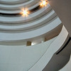 Abstract spiral view of gallery levels at Smithsonian's National Museum of the American Indian – a color image