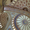 Dome Ceilings of the Blue Mosque in Istanbul
